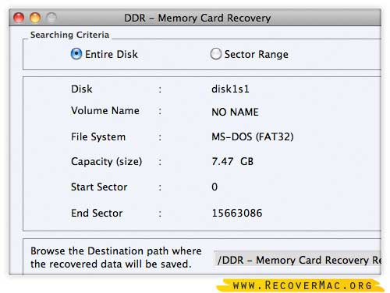 Mac Data restore tool rescue erased images